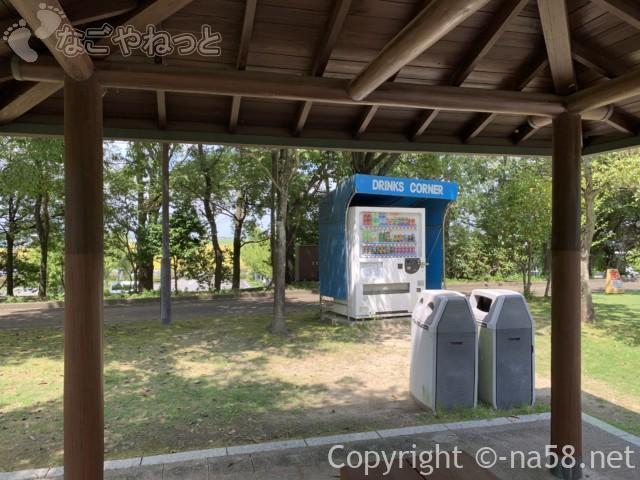 木曽三川公園センター水遊び場(じゃぶじゃぶ池)自販機あり