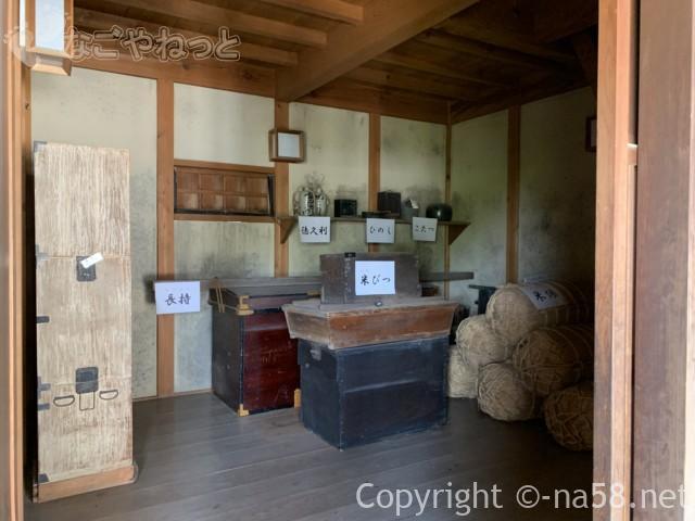 輪中の農家(木曽三川公園の北ゾーン)岐阜県海津市・水屋の倉庫