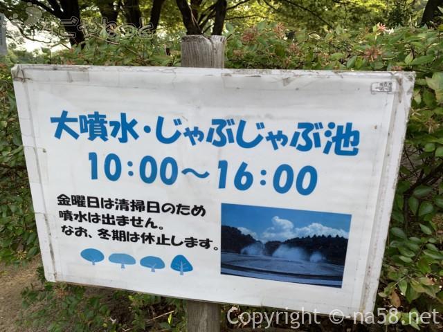 庄内緑地公園(名古屋市西区)の大噴水・じゃぶじゃぶ池の時間