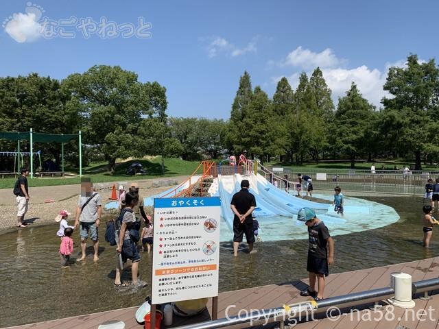 「とだがわこどもランド」(名古屋市港区)水遊び場・じゃぶじゃぶ池の約束事
