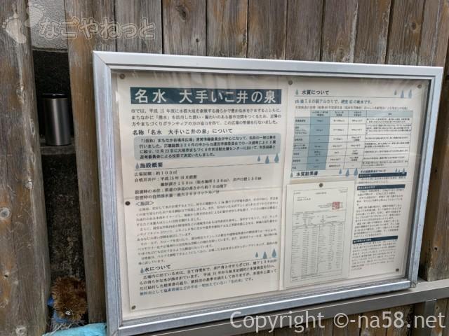 岐阜県大垣市「大手いこ井の泉(湧き水)」検査表と経緯