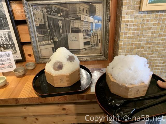 岐阜県大垣市の「餅惣」で「水まん氷」