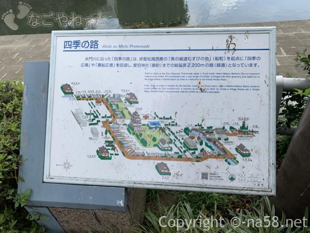 城下町大垣観光・四季の路の散策経路案内