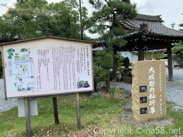 城下町大垣観光・四季の路の散策、八幡神社