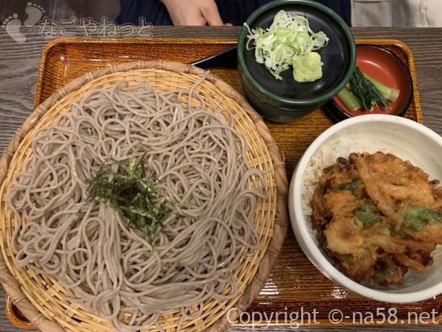 大垣駅の「おらが蕎麦」かき揚げ丼定食ざる