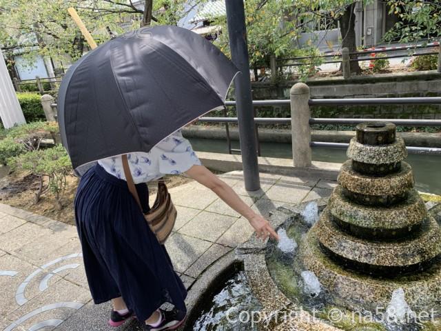 城下町大垣観光・愛宕神社から南の道沿いにある涌き水