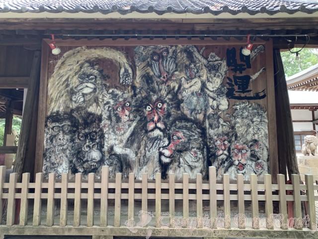 「日吉神社」愛知県清須市、拝殿にかかる巨大絵馬