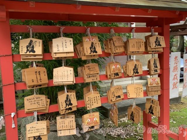 「日吉神社」愛知県清須市、絵馬とおみくじ