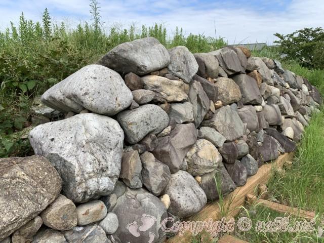 清州城の石垣を再現したもの(清州城そば、愛知県清須市)