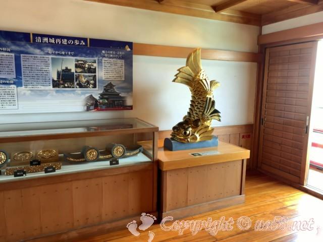清州城(愛知県清須市)4階の清州城再建の歩みの展示