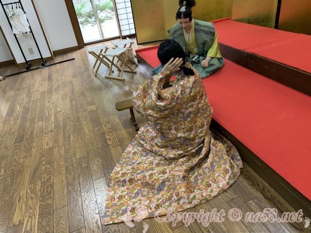 「芸能文化館」で打掛の試着も(愛知県清須市)