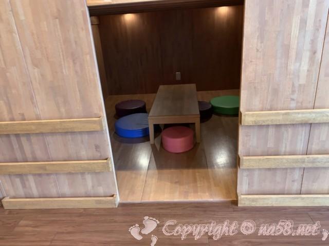 らくスパガーデン名古屋(名古屋市名東区)個室風の休憩所