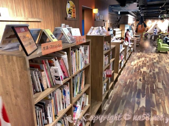 らくスパガーデン名古屋(名古屋市名東区)図書館なみに多い本