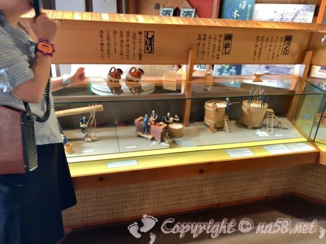 「酒の文化館」(愛知県半田市)、お酒の製造工程を模型で