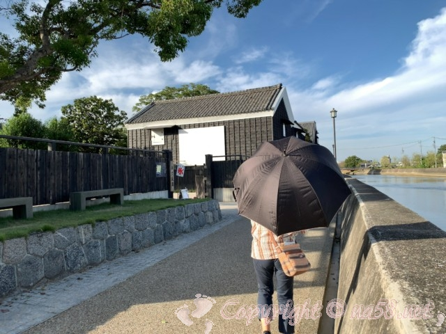 半六庭園(愛知県半田市)の東門、半田運河