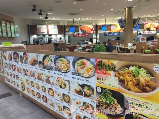 土山SA(滋賀県甲賀市)の食事処のメニュー
