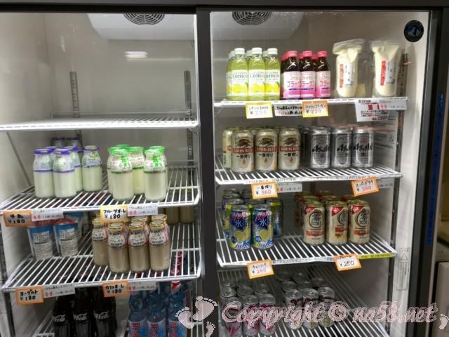 ペーロン温泉(兵庫県相生市)、道の駅白龍城にある、冷たい飲み物各種