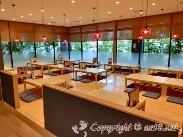 後楽温泉ほのかの湯(岡山県岡山市)お食事処「さぬきや」掘りごたつ席