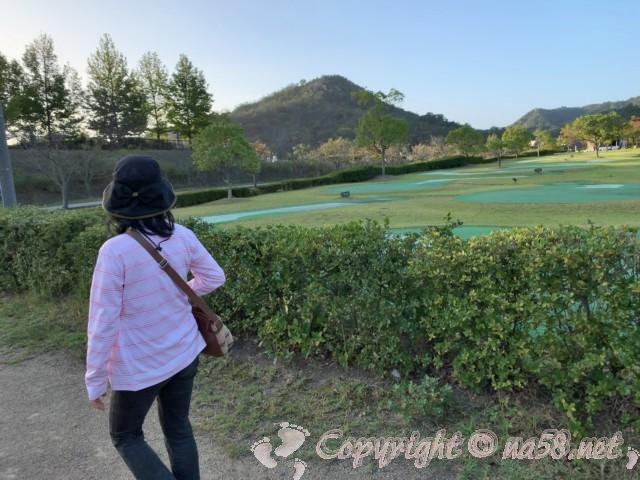 道の駅みやま公園(岡山県玉野市)の朝の散歩