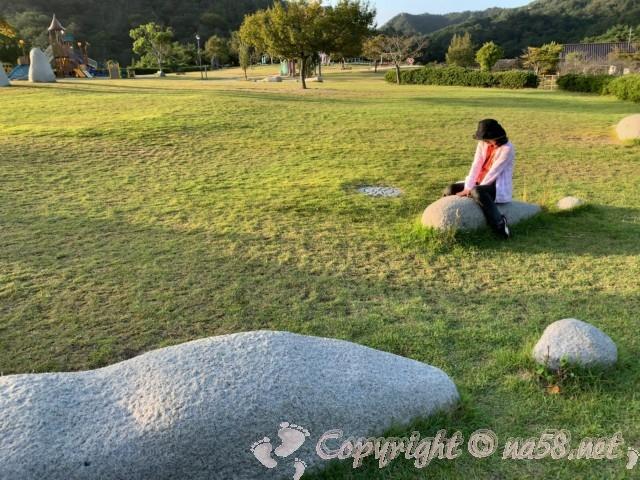 道の駅みやま公園(岡山県玉野市)の早朝の公園散策