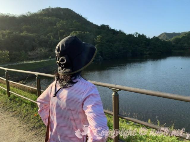 道の駅みやま公園(岡山県玉野市)にある池