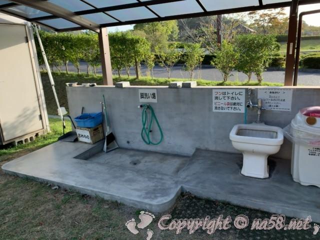 道の駅みやま公園(岡山県玉野市)にあるドッグランの設備