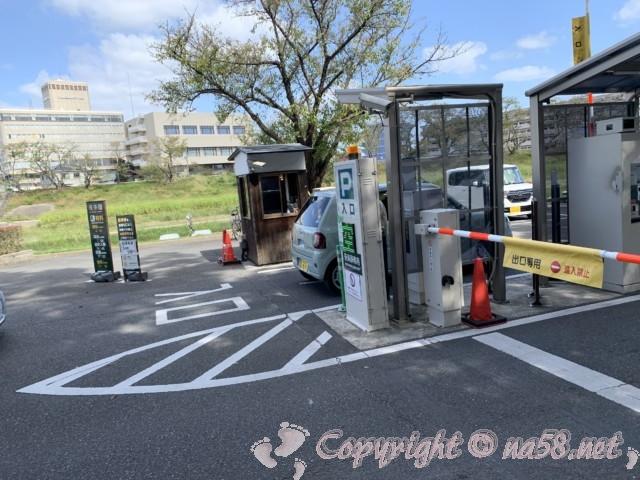 後楽園(岡山県岡山市)の駐車場の出入り口