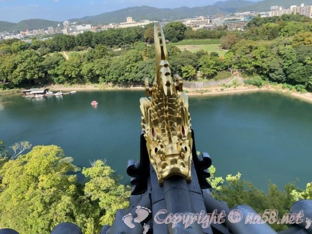 岡山城(岡山県岡山市)の最上階からの景色
