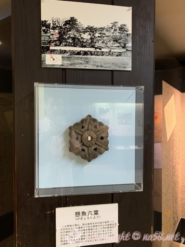 岡山城(岡山県岡山市)内の展示、門の装飾品