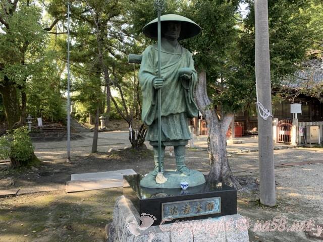 龍照院(愛知県蟹江市)の境内にある弘法大師像