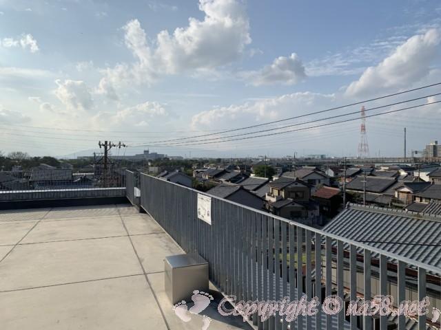 愛知県蟹江町の蟹江観光交流センター祭人の三階屋上からの風景