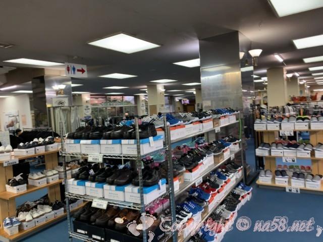 尾張温泉東海センター(愛知県蟹江市)の物販、靴売り場コーナー