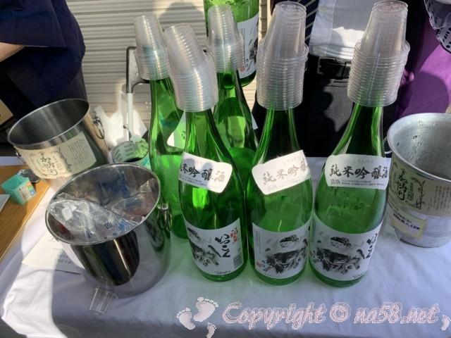 「甘強酒造」愛知県蟹江町、試飲、純米吟醸酒の四天王いっこく