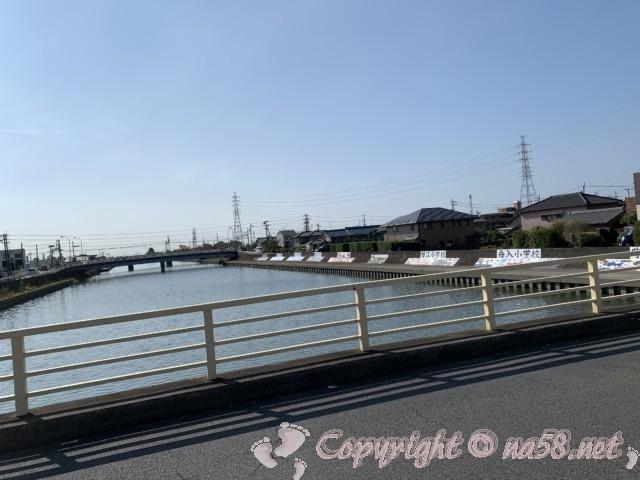 蟹江川からの風景南方向の風景
