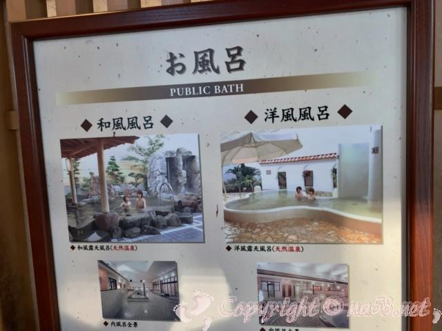 天然温泉 湯楽(愛知県津島市)のお風呂につてい