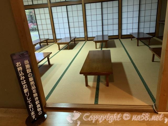 「信州平谷温泉ひまわりの湯」(長野県平谷村)畳の休憩所