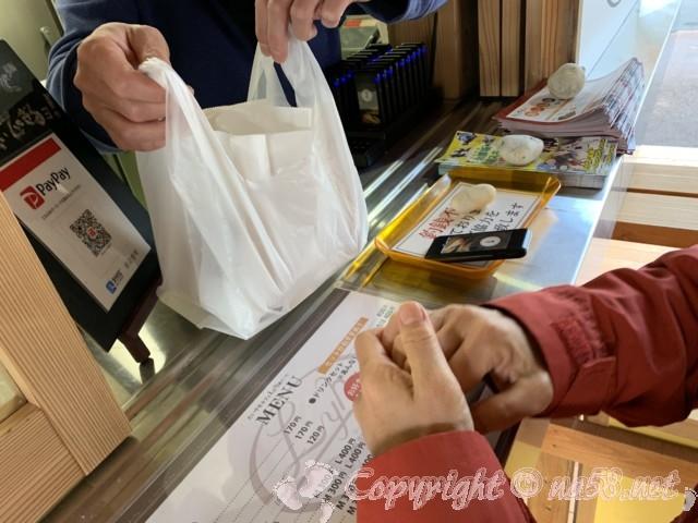 ネバーランド(長野県根羽村)のたい焼きカフェで、たい焼き三つ購入