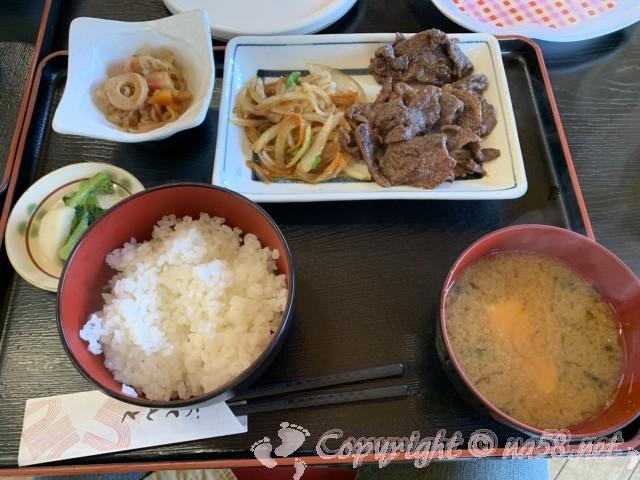 「道の駅 信州新野千石平」(長野県阿南町)、鹿焼肉定食