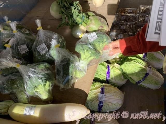 「道の駅 信州新野千石平」(長野県阿南町)、地元野菜は形色々