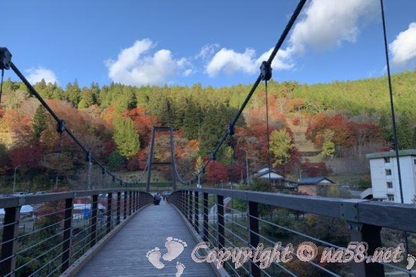 大井平公園と風のつり橋(豊田市稲武町)紅葉真っ盛りの11月中旬に
