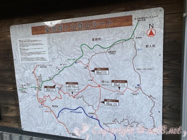 大井平公園(豊田市稲武町)から城ヶ山へのハイキングコース案内
