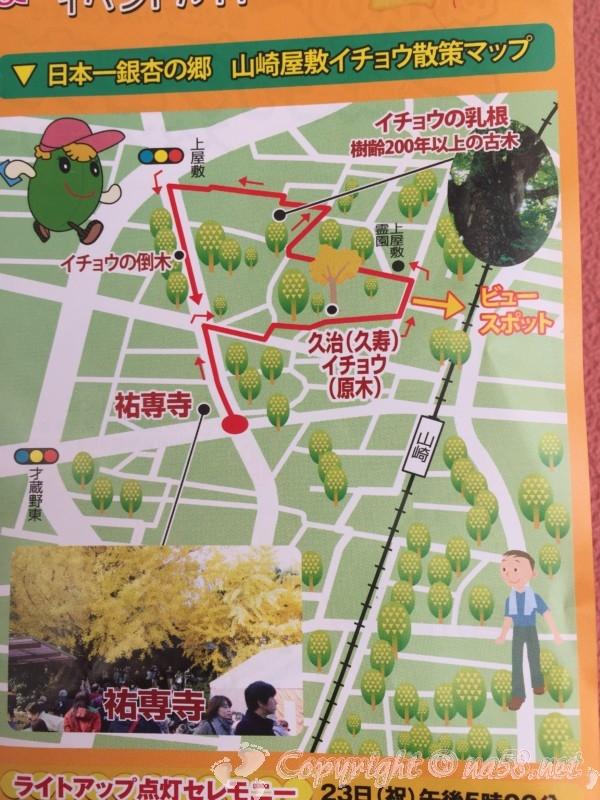そぶえイチョウ黄葉まつり、散策マップ