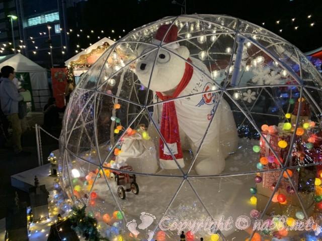名古屋クリスマスマーケット(中区久屋大通り公園)2019年シロクマのフォトスポット