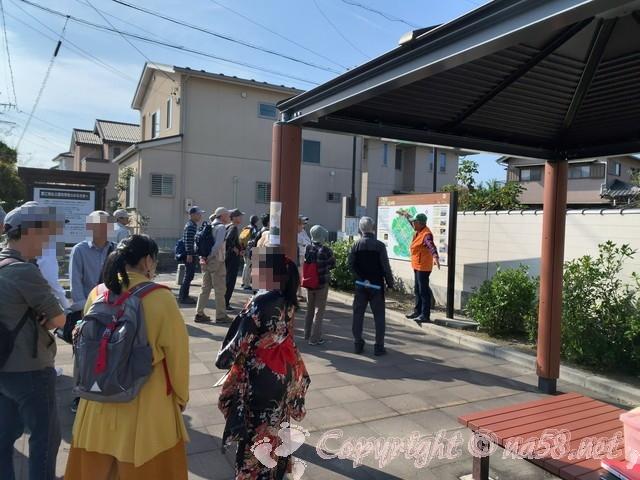蟹江城址公園(愛知県蟹江町)で地元の方による詳しい解説
