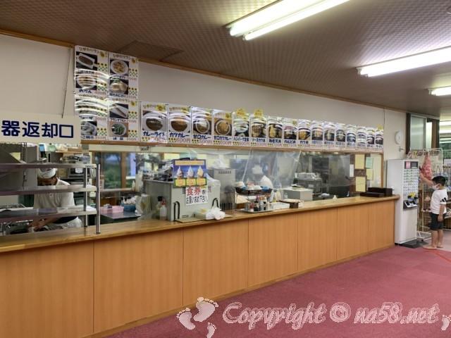 ひまわりの湯(長野県平谷村)の食事処軽食、ひまわりランド