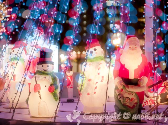 クリスマス飾り、サンタと雪だるま