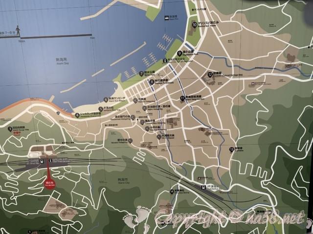 熱海観光、熱海七湯めぐり(静岡県熱海市)地図