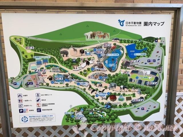 静岡市立日本平動物園(静岡県静岡市)園内マップ