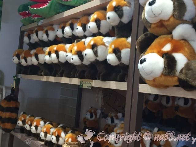 静岡市立日本平動物園(静岡県静岡市)お土産店でレッサーパンダのぬいぐるみ