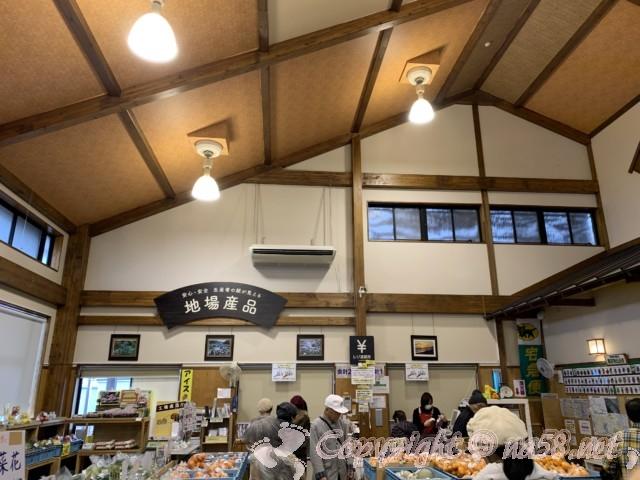 「道の駅潮見坂」(静岡県湖西市)の施設内部